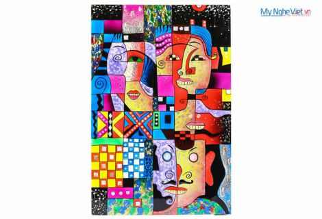 Lacquer Picasso painting  MNV-SMA377