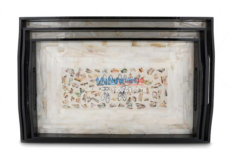 Lacquer Inlaid Tray - Butterfly - MNV-K23