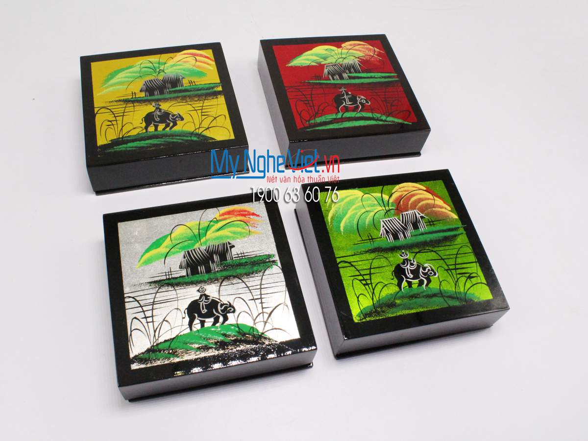 Lacquer Painting Coaster MNV-DLL002C